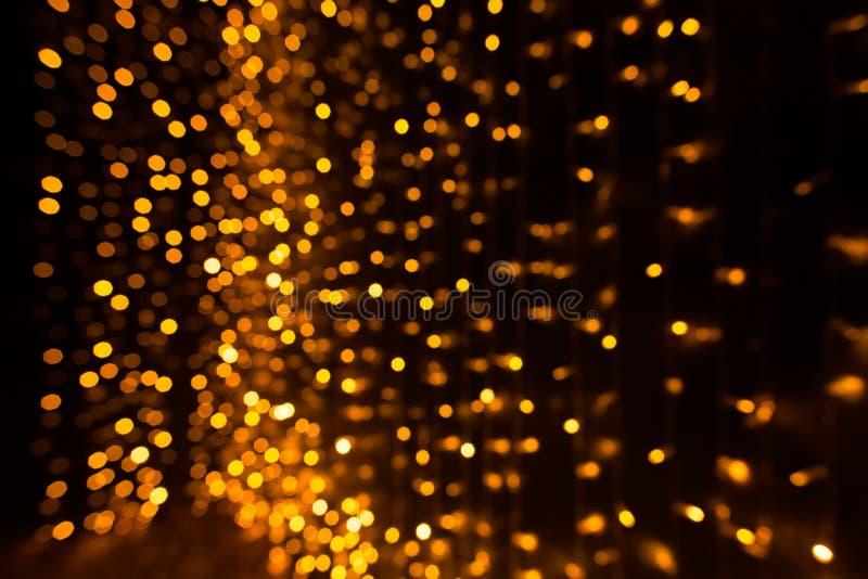 Fundo do sumário do bokeh das luzes de Natal imagens de stock