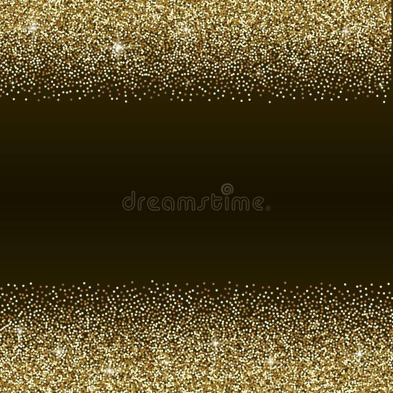 Fundo do sumário do brilho do ouro ilustração stock