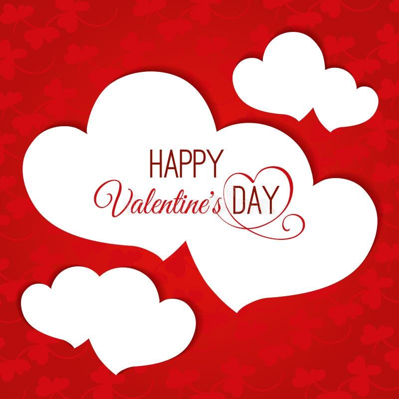 Fundo do sumário do dia de Valentim com corações ilustração do vetor