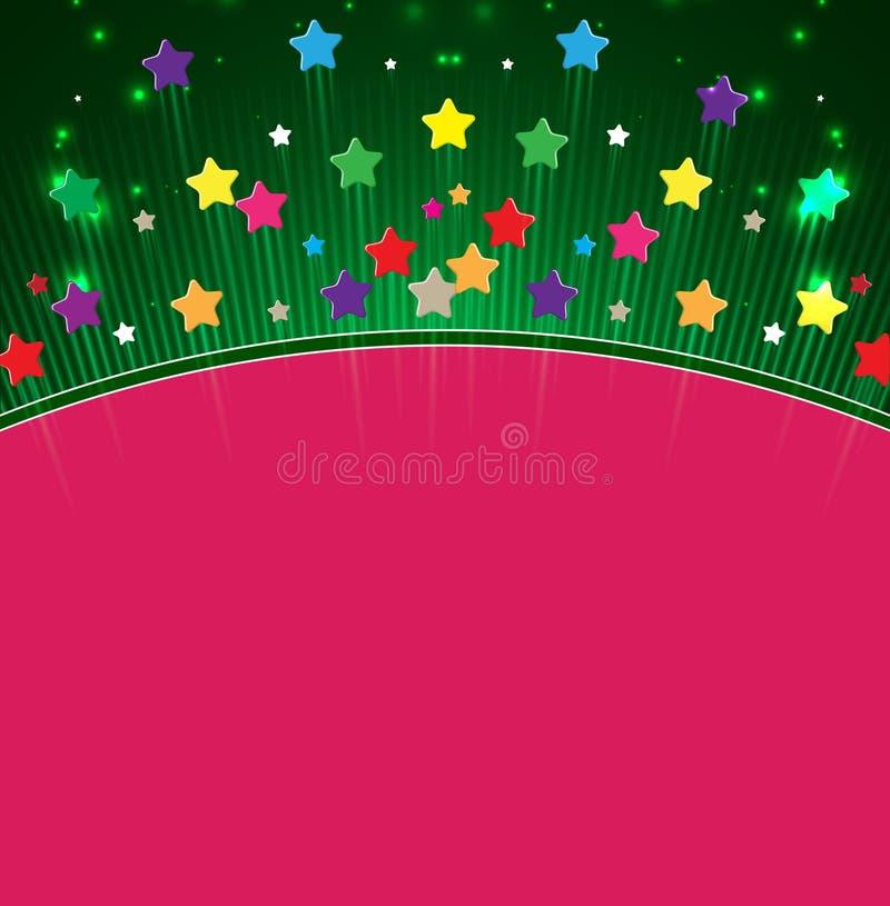Fundo do sumário do espaço do feliz aniversario da estrela ilustração do vetor