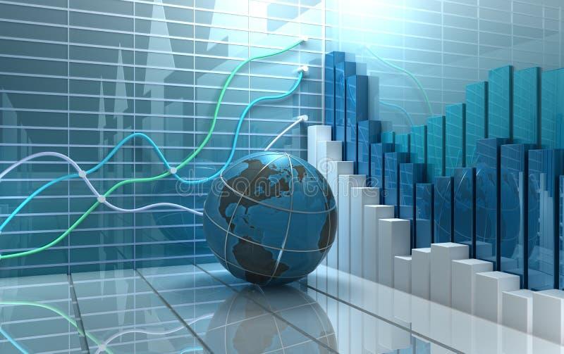Fundo do sumário do mercado de valores de acção ilustração royalty free