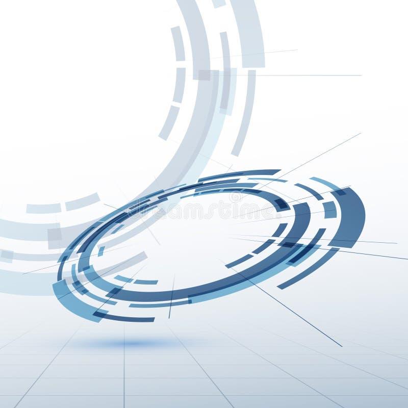 Fundo do sumário do modelo da roda de engrenagem ilustração stock