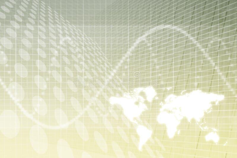 Fundo do sumário do negócio global ilustração stock