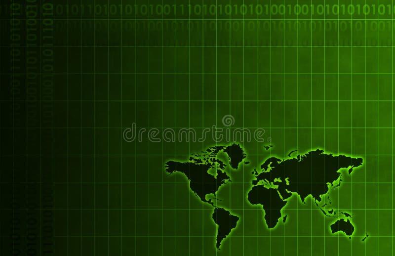 Fundo do sumário do negócio global ilustração royalty free
