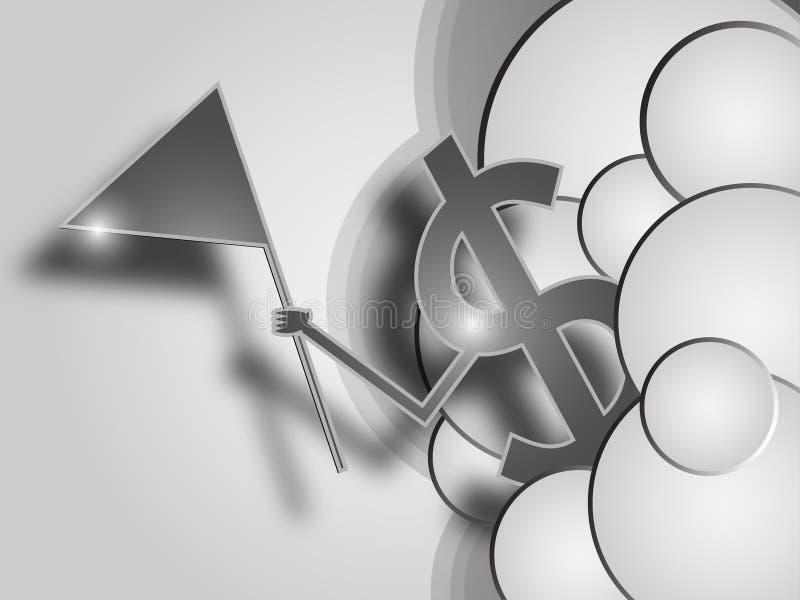 Fundo do sumário do sinal do dinheiro ilustração royalty free