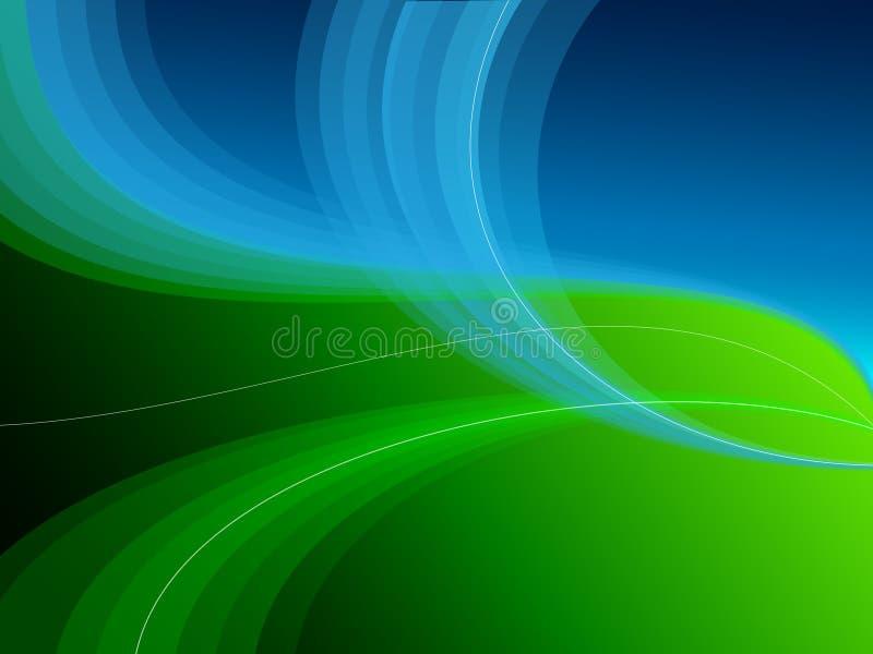 Fundo do sumário do verde azul ilustração royalty free