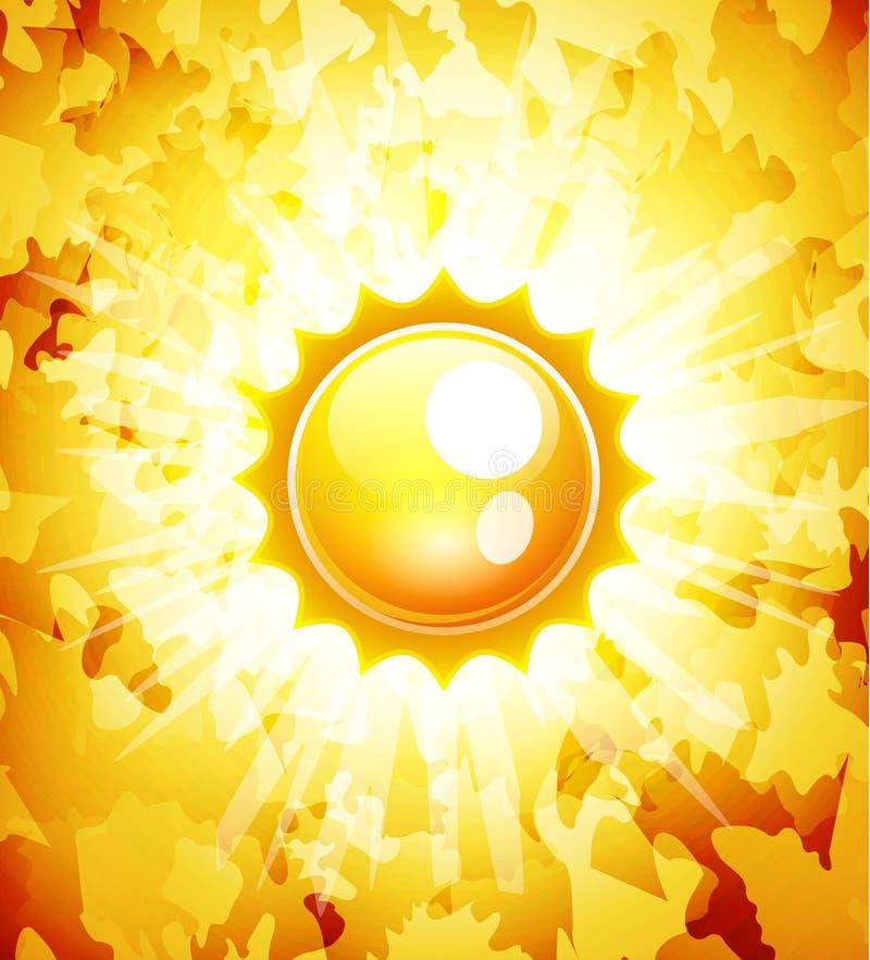 Fundo do sumário do vetor da luz do sol ilustração stock