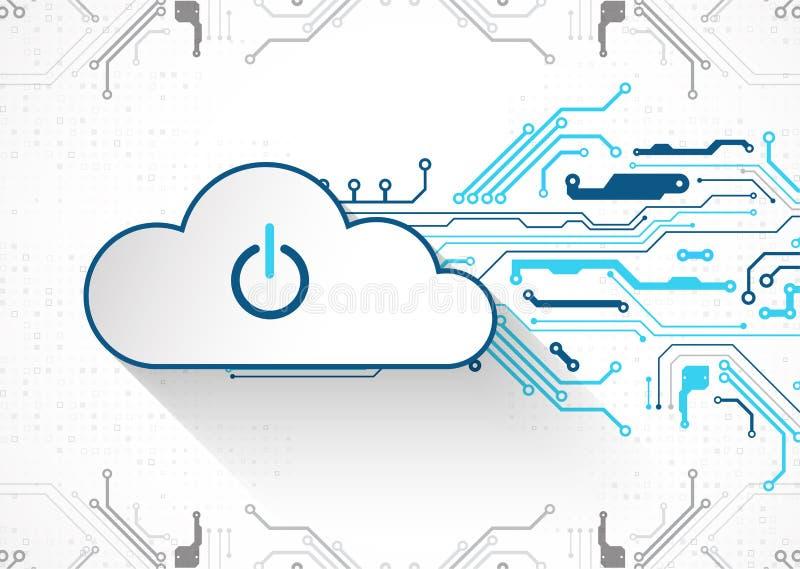 Fundo do sumário do negócio da tecnologia da nuvem da Web Vetor ilustração stock