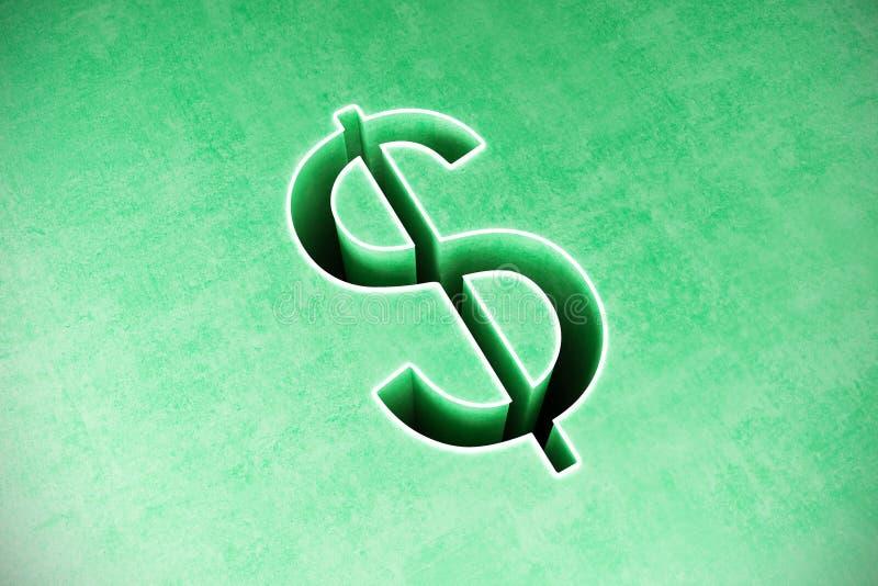 Fundo do sumário do sinal de dólar imagem de stock royalty free