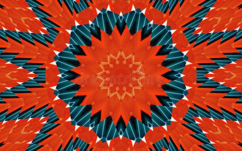 Fundo do sumário do teste padrão do caleidoscópio Teste padrão redondo Fundo abstrato arquitetónico do caleidoscópio do fractal F fotos de stock