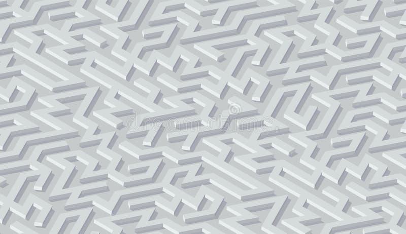 Fundo do sum?rio do teste padr?o do labirinto com o labirinto para o cartaz ou o papel de parede ilustração stock