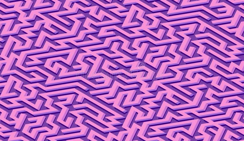 Fundo do sum?rio do teste padr?o do labirinto com o labirinto para o cartaz ou o papel de parede ilustração royalty free