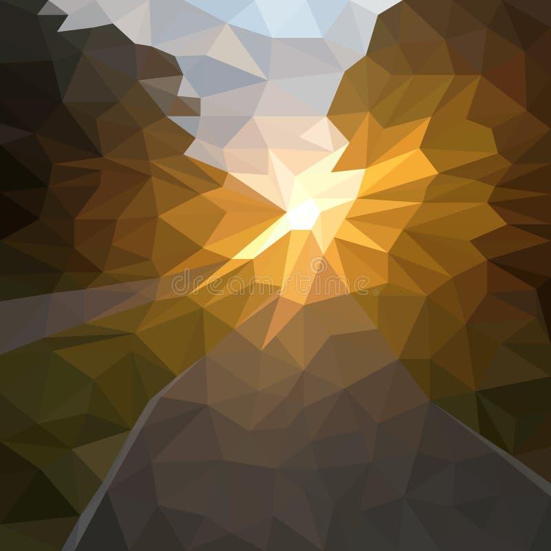 Fundo do sum?rio do vetor do por do sol ou do nascer do sol ilustração do vetor