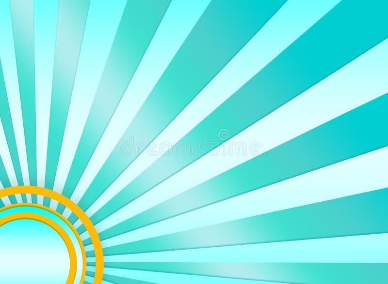Fundo do sunburst de turquesa ilustração do vetor