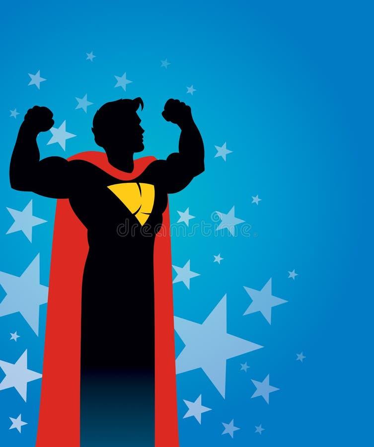Fundo do super-herói ilustração royalty free