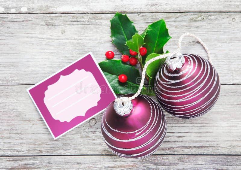 Fundo do Tag do Natal imagem de stock
