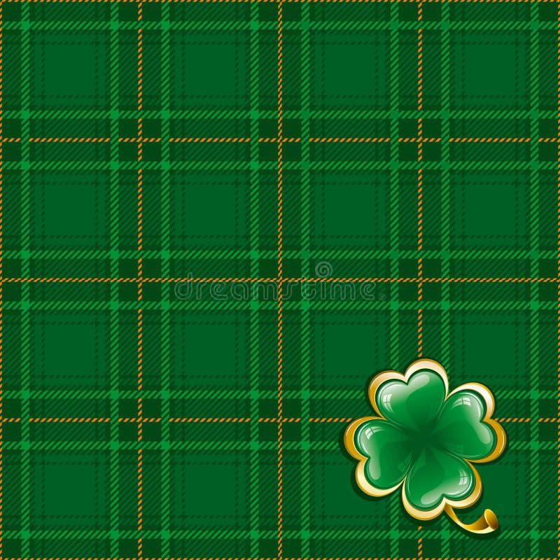 Fundo do Tartan ao dia do St. Patrick ilustração royalty free