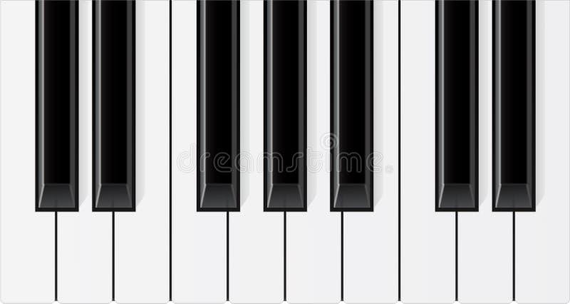 Fundo do teclado de piano ilustração do vetor