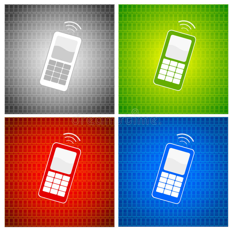 Fundo do telefone móvel ilustração do vetor