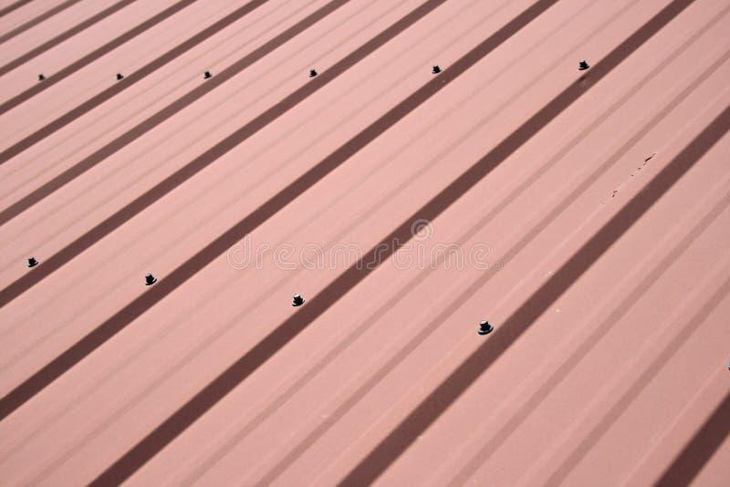 Fundo do telhado do metal fotografia de stock royalty free