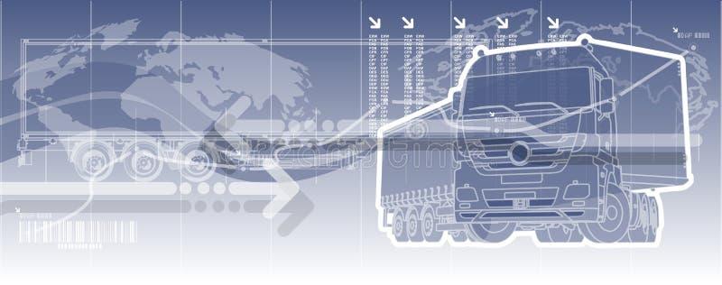 Fundo do tema da logística do vetor ilustração stock