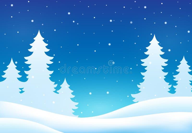 Fundo 8 do tema do inverno ilustração royalty free