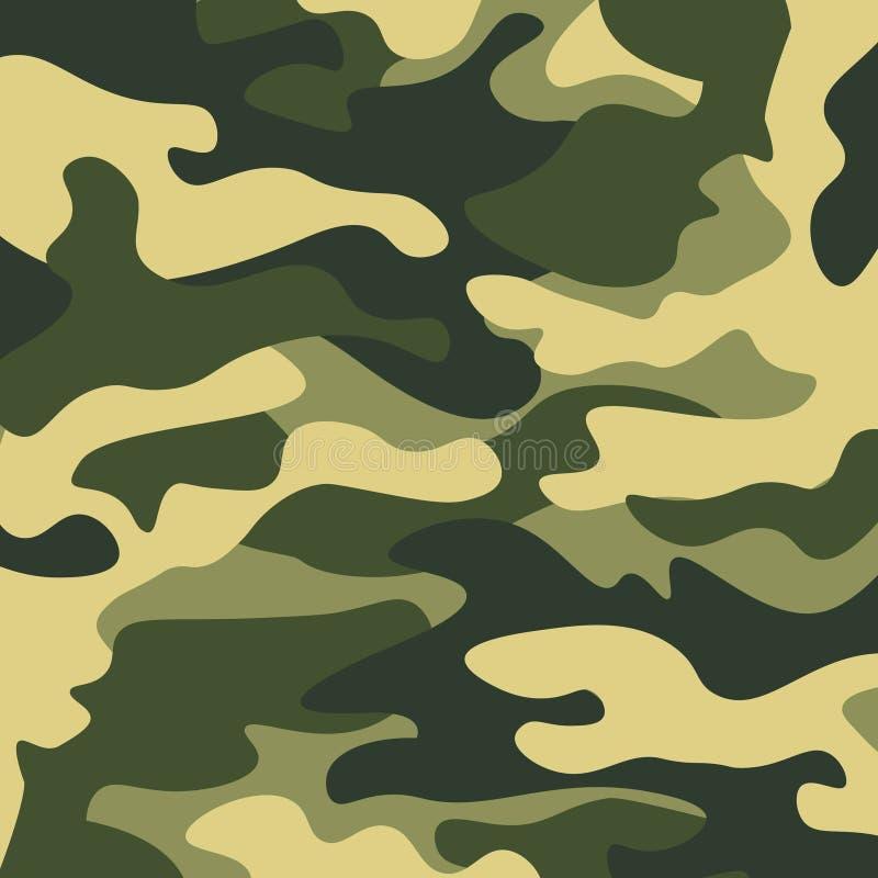 Fundo do teste padrão da camuflagem Cópia clássica da repetição do camo do mascaramento do estilo da roupa ilustração stock