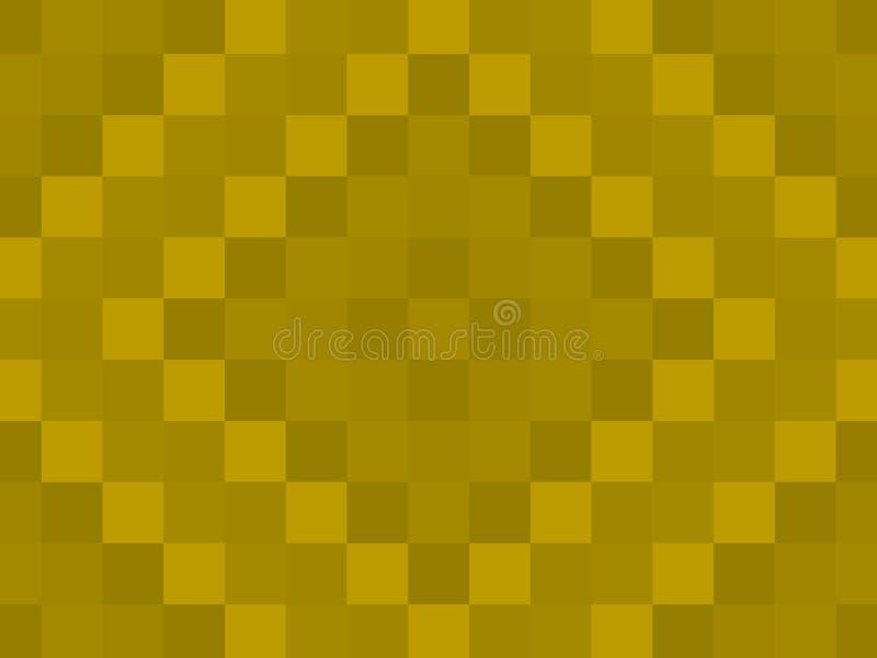 Fundo do teste padrão da edredão do amarelo da mostarda que é perfeito para Sli ilustração do vetor