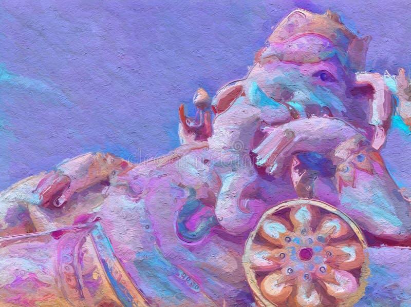 Fundo do teste padrão da estátua do ganesha da arte foto de stock royalty free