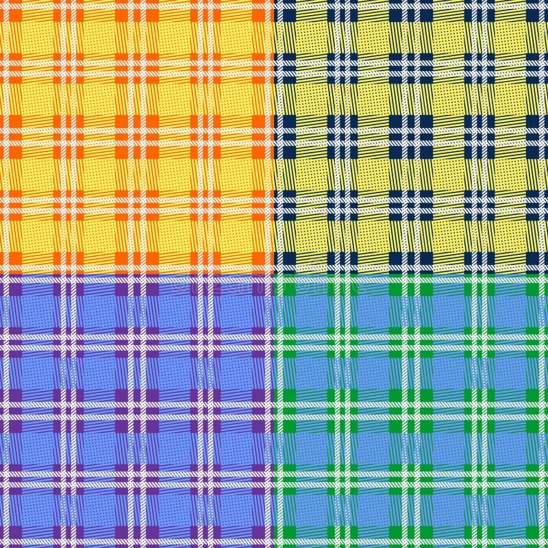 Fundo do teste padrão da manta de tartã do lenhador com grupo de cores pastel macio ilustração royalty free