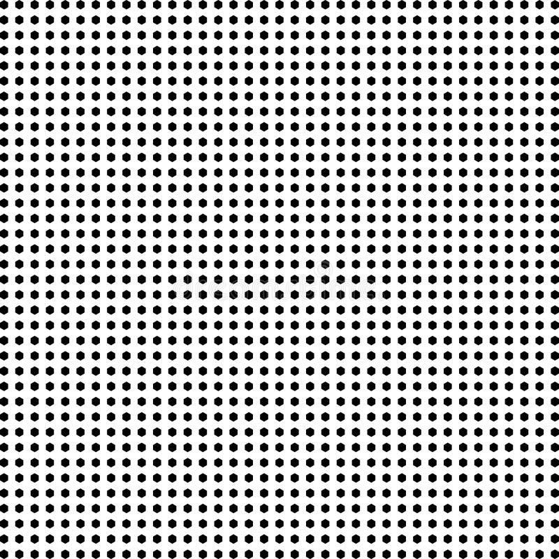 Fundo do teste padrão da reticulação do hexágono ilustração do vetor