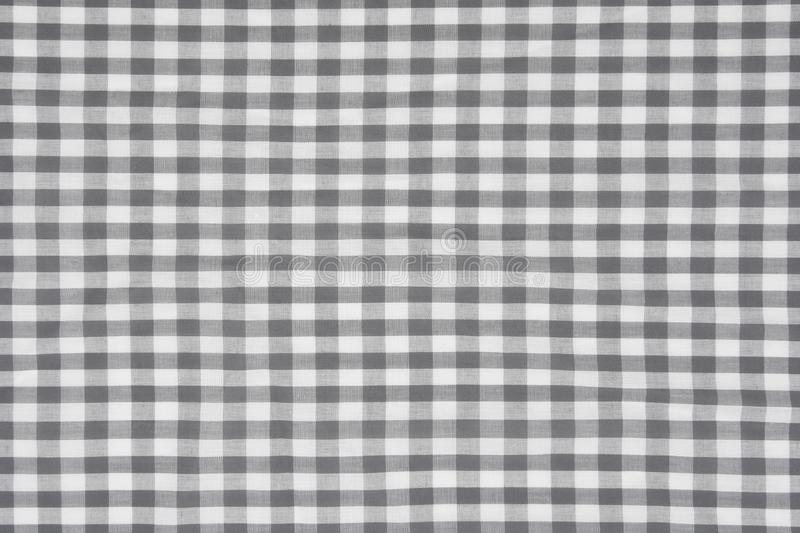 Fundo do teste padrão da tela do guingão do cinza fotografia de stock