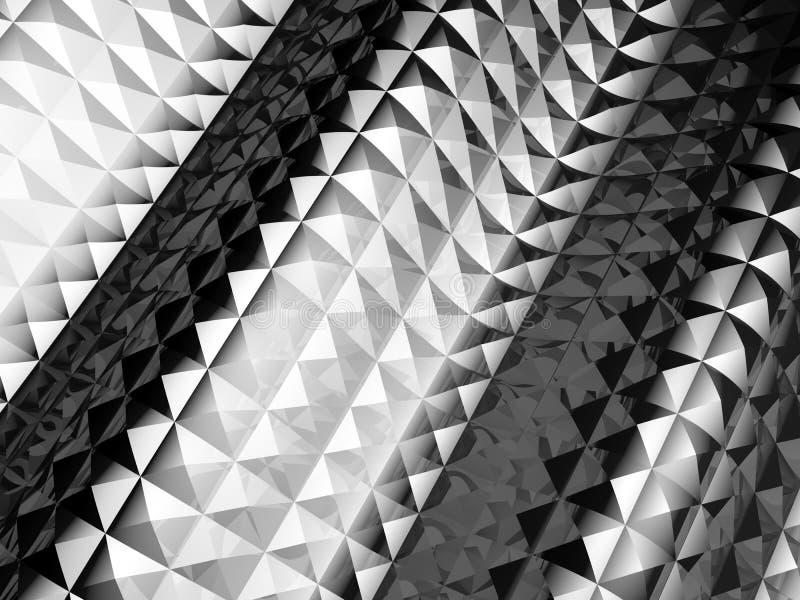Fundo do teste padrão de ondulação do efeito do glisten do metal ilustração royalty free