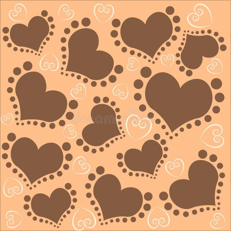Fundo do teste padrão do amor ilustração royalty free