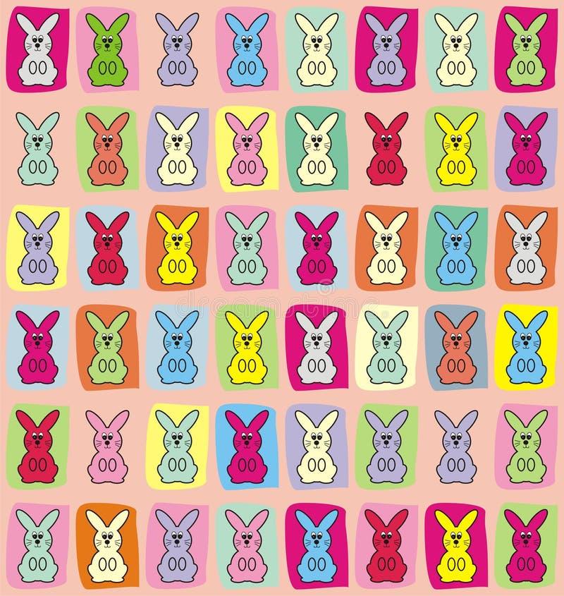 Fundo do teste padrão do coelhinho da Páscoa imagens de stock
