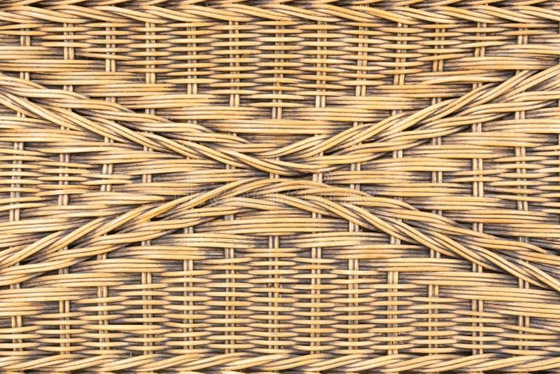 Fundo do teste padrão do rattan do Weave imagem de stock