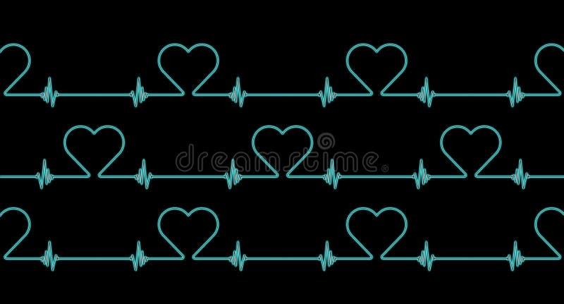 Fundo do teste padrão do ritmo da frequência cardíaca ilustração royalty free