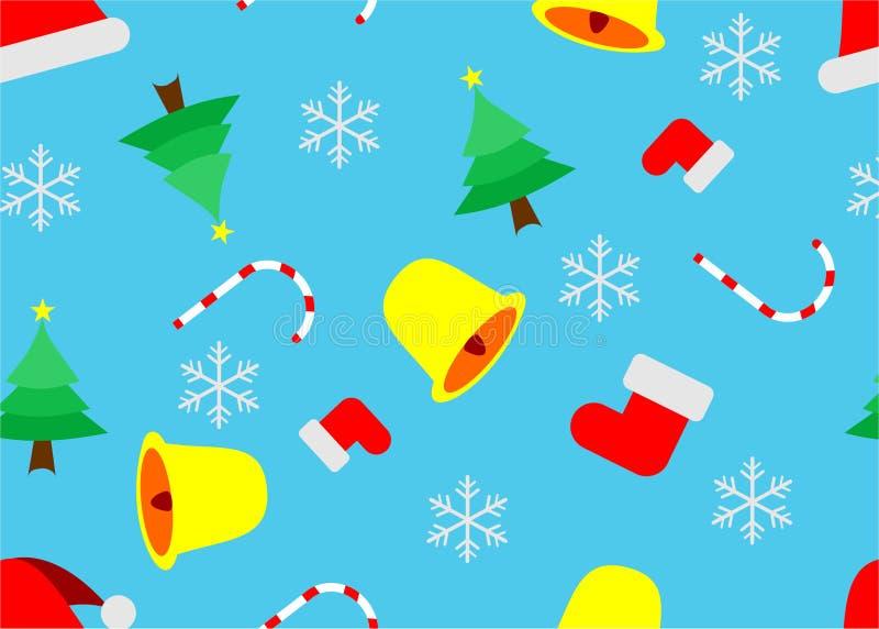 Fundo do teste padrão do Natal foto de stock