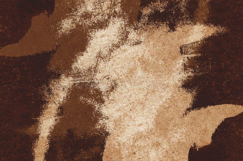 Fundo do teste padrão do sumário da cor do marrom do grunge da arte ilustração stock