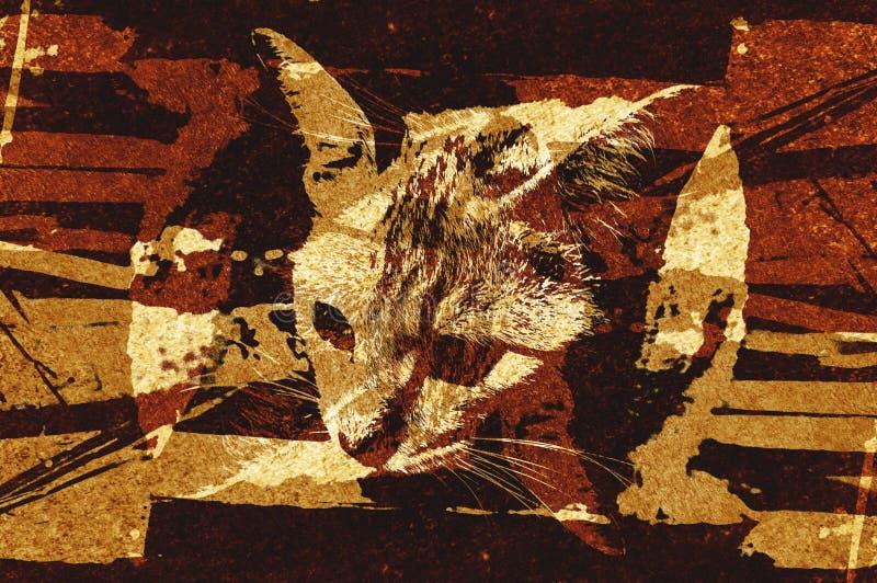 Fundo do teste padrão do sumário da cor do marrom do grunge da arte ilustração do vetor