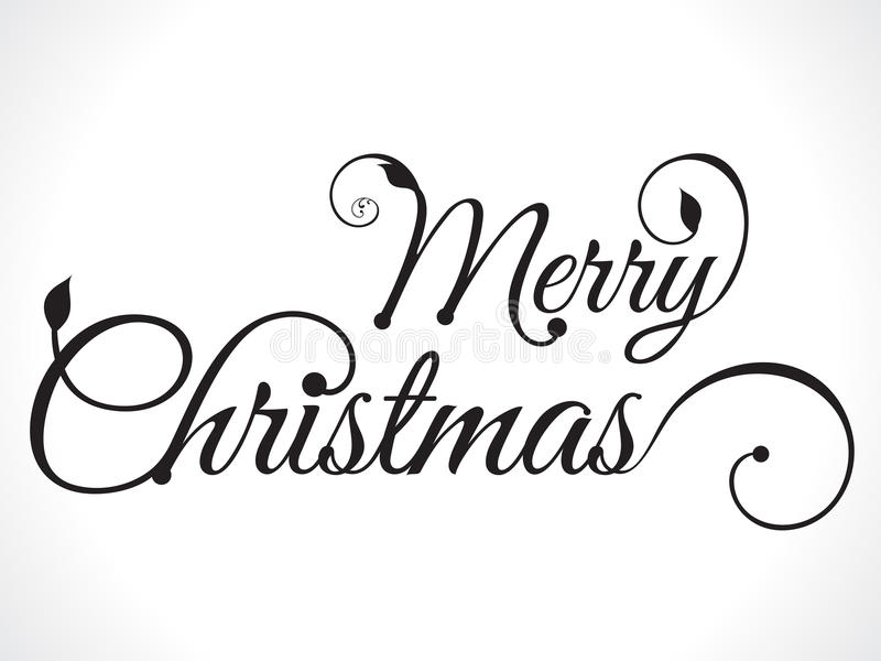 Fundo do texto do Feliz Natal ilustração royalty free