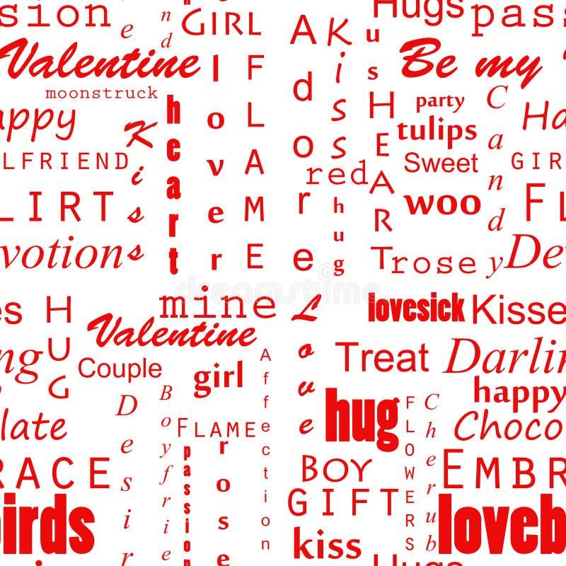 Fundo do texto dos Valentim de Seamles fotografia de stock
