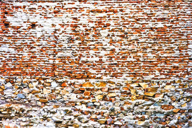 Fundo do tijolo e da parede de pedra textura-animados imagem de stock