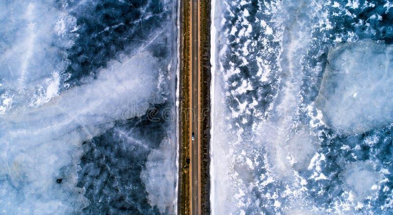 Fundo do transporte do inverno fotografia de stock