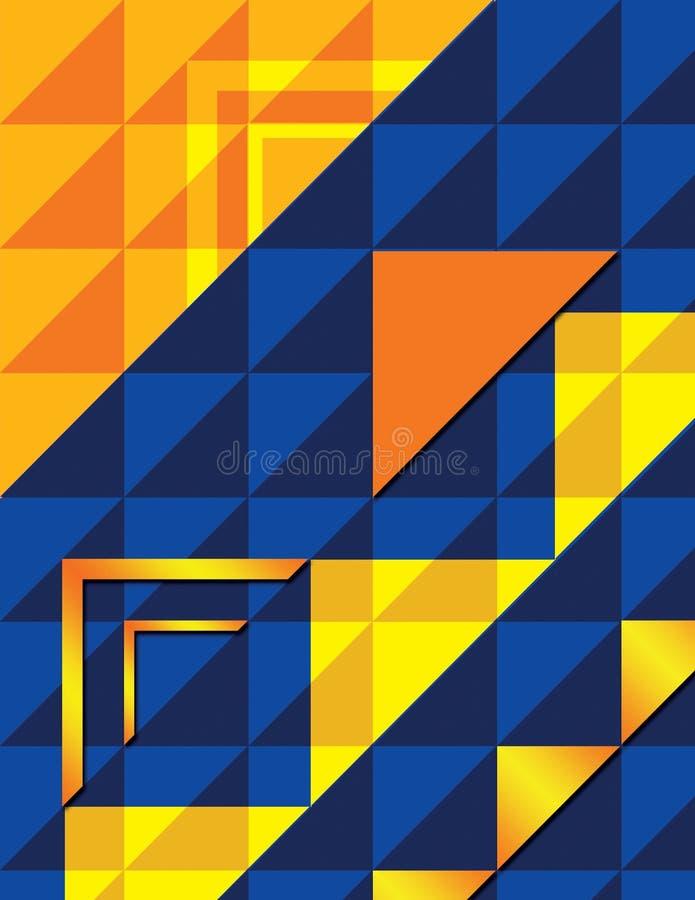 Fundo do triângulo de OYB imagens de stock royalty free
