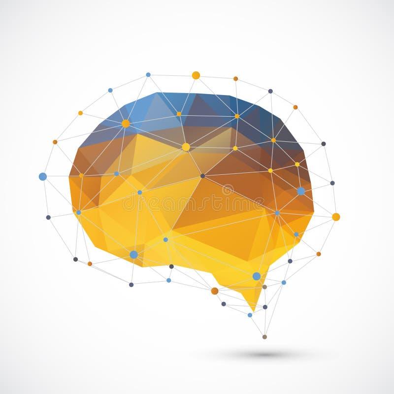 Fundo do triângulo do cérebro ilustração stock