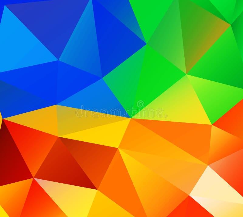 Fundo do triângulo. Polígono coloridos. ilustração do vetor