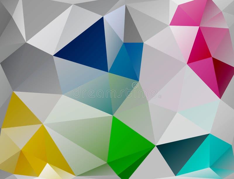 Fundo do triângulo. Polígono coloridos. ilustração stock