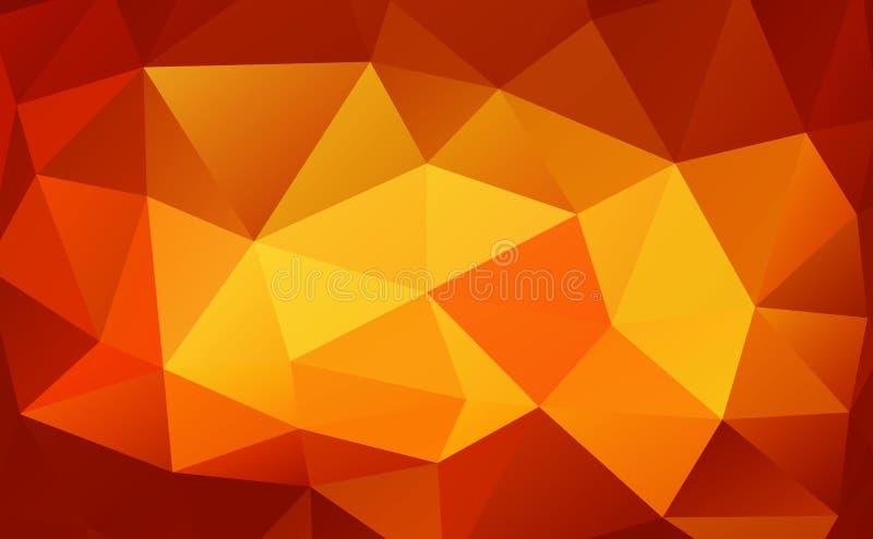 Fundo do triângulo Polígono coloridos ilustração stock