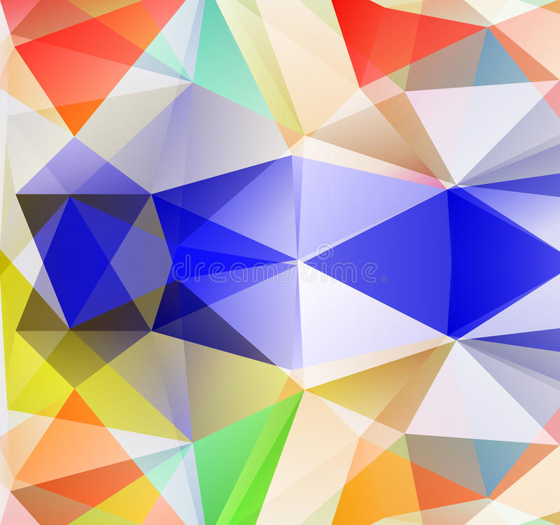 Fundo do triângulo. Polígono de Colorfull. ilustração stock